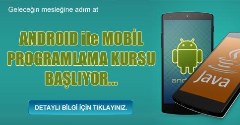 Android ile Mobil Programlama Kursu