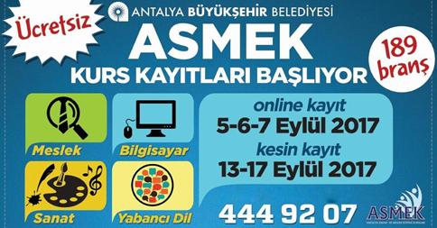 Antalya'da Kurs Kayıtları